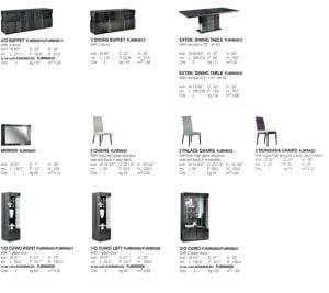 ALF ITALIA itališki svetainės ir valgomojo baldai Montecarlo (1)