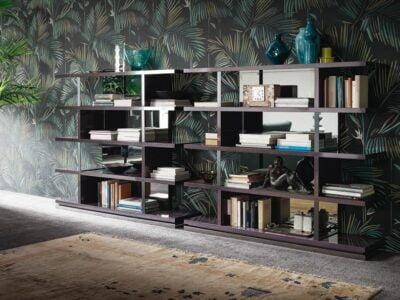 Alf Italia itališki svetainės ir valgomojo baldai Heritage knygų lentyna