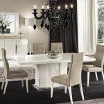 Alf italia itališki svetainės ir valgomojo baldai Canova kėdės ir stalas (1)