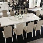 Alf italia itališki svetainės ir valgomojo baldai Canova kėdės ir stalas (2)