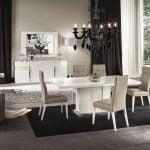 Alf italia itališki svetainės ir valgomojo baldai Canova kėdės ir stalas (3)