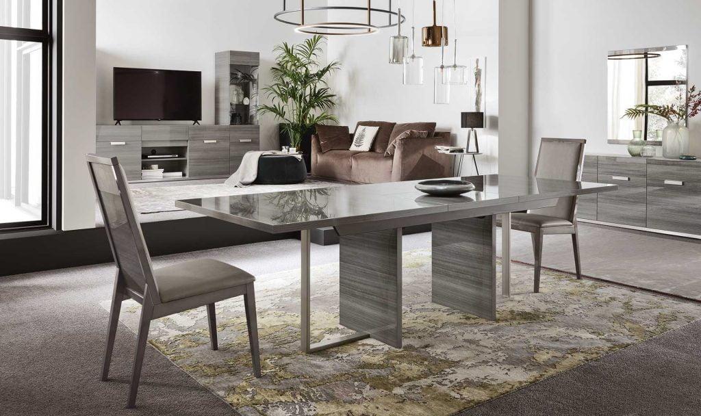 Alf italia itališki svetainės ir valgomojo baldai Iris stalas ir kėdės (1)
