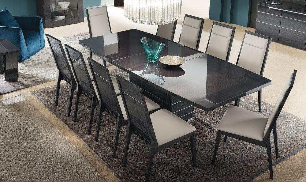 Alf italia itališki svetainės ir valgomojo baldai Versilia kėdės ir stalas (1)