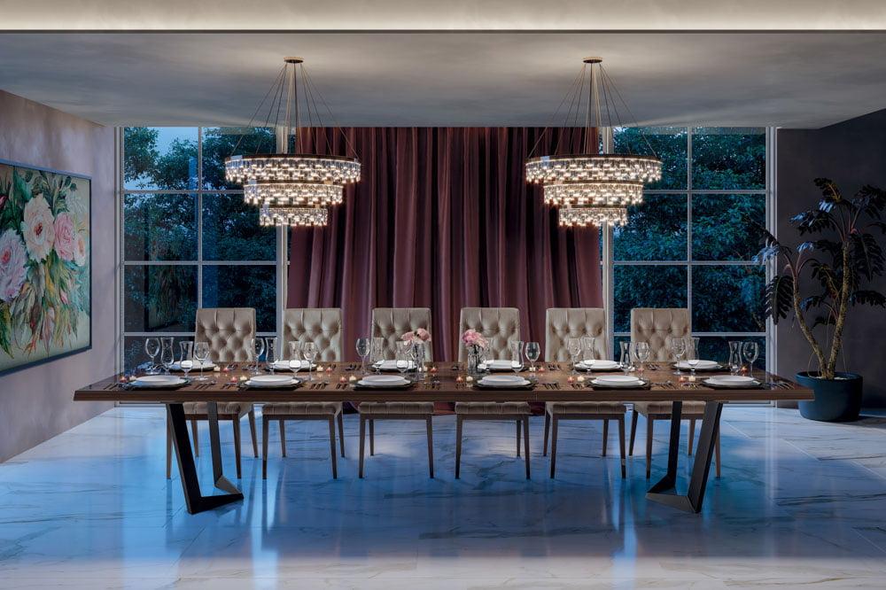 Camelgroup itališki svetainės ir valgomojo baldai Elite Day Noce stalas ir kėdės (4)
