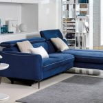 Dianthus minksti baldai Vero kampine sofa