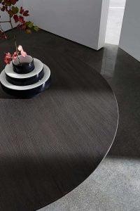 Italiskas apvalus medinis valgomojo stalas Sovet Totem wood (3)