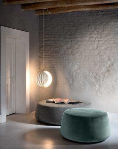 Italiski baldai pufas Denny (1)