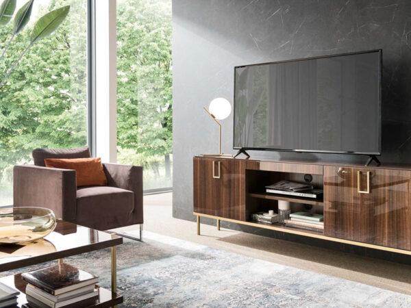 Italiski svetaines baldai Mid Century TV spintele (1)-2