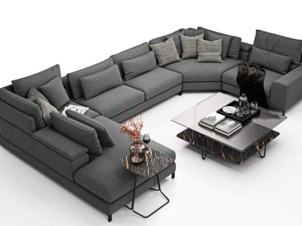 Olta italiski baldai u formos minkstas kampas Horizon
