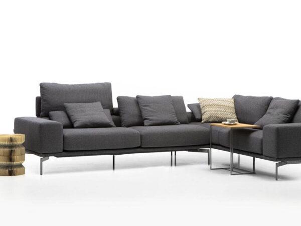 Olta minksti baldai kampine sofa Topaz