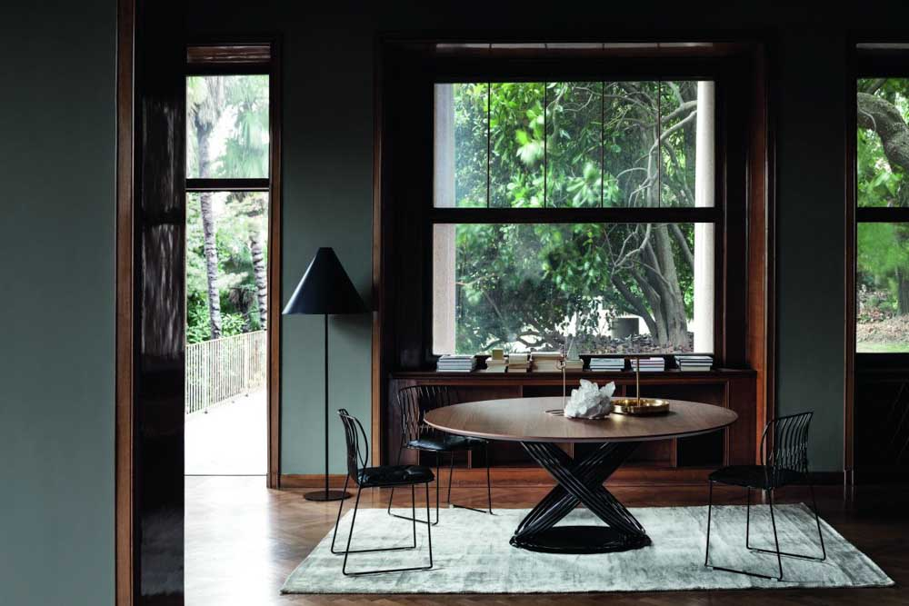 italiski valgomojo baldai fusion round stalas