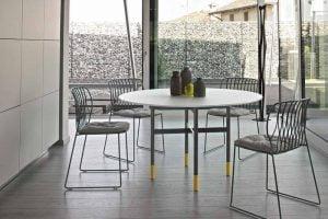 italiski valgomojo baldai Glamour round stalas