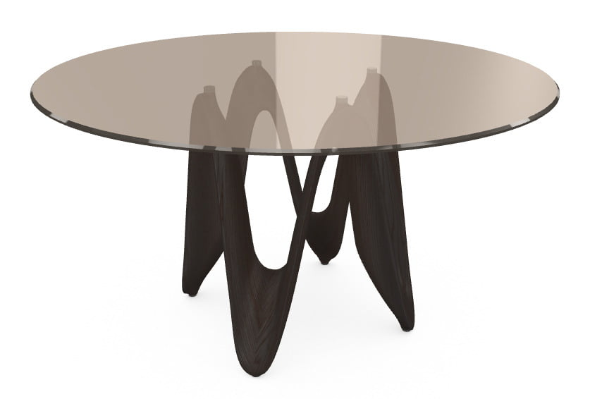 italiski valgomojo baldai stalas-LAMBDA GLASS WF TBTB