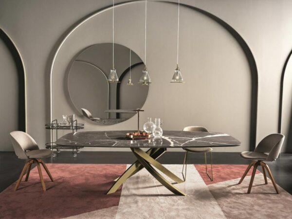 italiski valgomojo baldai stalas artistico