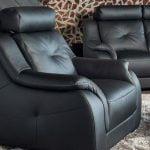 minksti odiniai baldai fotelis dviviete sofa sincope