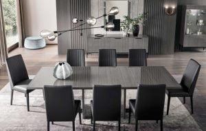 ALF ITALIA italiski valgomojo baldai novecento stalas ir kedes (1)