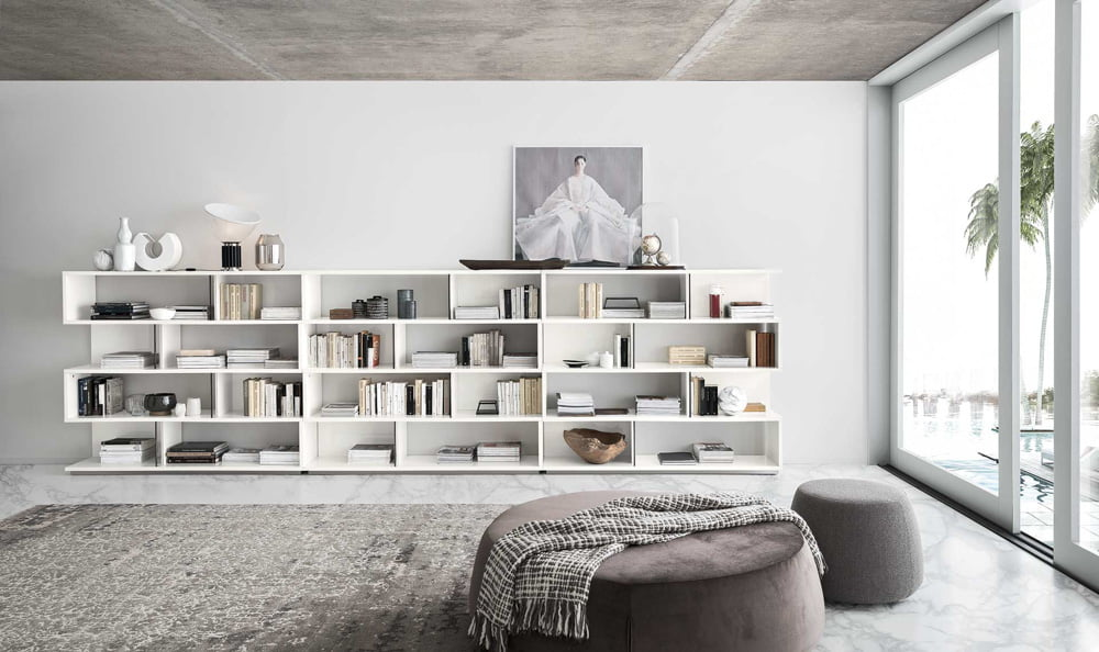 Alf italia itališki baldai svetaines ir valgomojo baldai Artemide knygu lentyna (3)