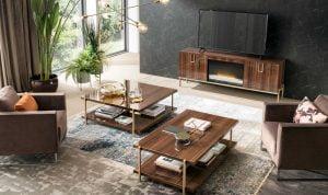 Alf italia itališki svetainės baldai kavos ir žurnalų staliukas Mid Century (1)-2