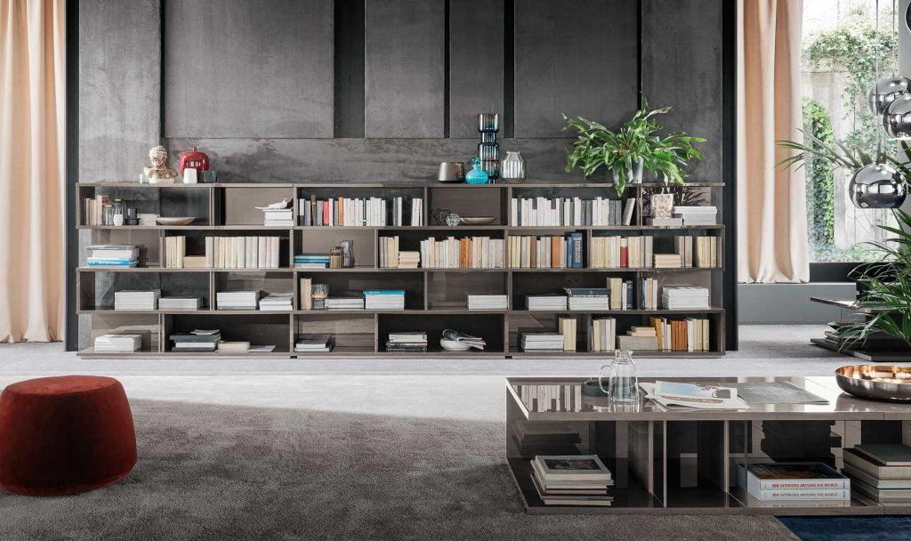 Alf italia itališki svetainės ir valgomojo baldai Athena knygų lentyna (1)