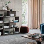 Alf italia itališki svetainės ir valgomojo baldai Athena knygų lentyna (2)