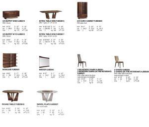Alf italia itališki valgomojo ir svetainės baldai Bellagio (1)