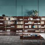 Alf italia itališki valgomojo ir svetainės baldai Bellagio knygų lentyna (1)