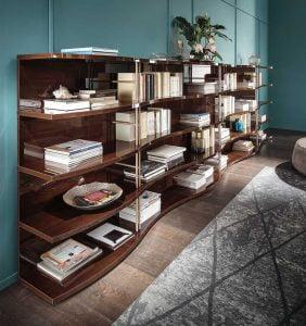 Alf italia itališki valgomojo ir svetainės baldai Bellagio knygų lentyna (2)