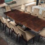 Alf italia itališki valgomojo ir svetainės baldai Bellagio stalas ir kėdė (1)