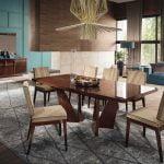 Alf italia itališki valgomojo ir svetainės baldai Bellagio stalas ir kėdė (2)