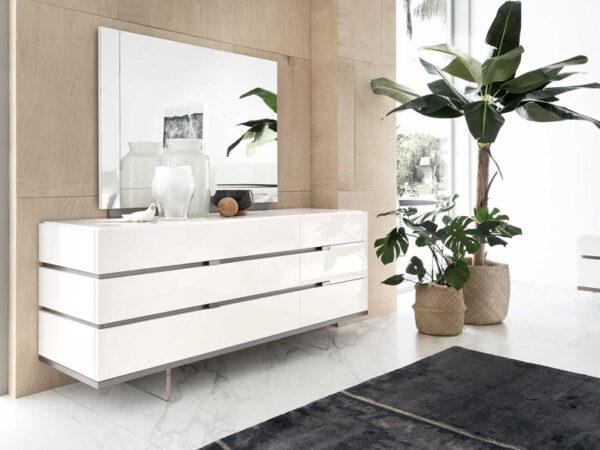Italiski baldai Artemide komoda ir veidrodis