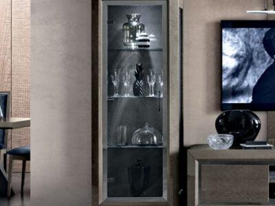 Camelgroup italiski baldai valgomojo komplektas ELITE Day Platinum vitrina