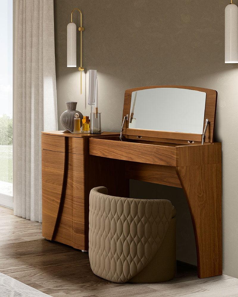 Camelgroup itališki miegamojo baldai Luna Walnut kosmetinis staliukas