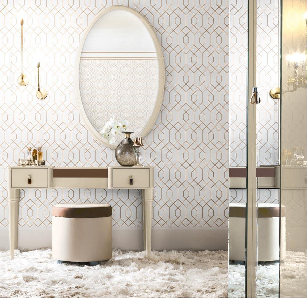 Camelgroup itališki miegamojo baldai kosmetinis staliukas ir pufas (1)