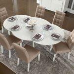 Camelgroup itališki valgomojo baldai Dama Bianca stalas ir kėdės