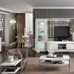 Camelgroup itališki valgomojo ir svetainės baldai Dama Bianca (9)