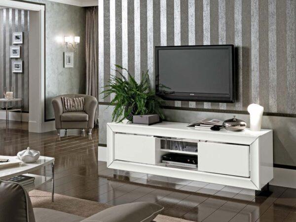 Camelgroup itališki valgomojo ir svetainės baldai Dama Bianca TV staliukas