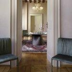 Italiski baldai Natisa apvalus valgomojo stalas Clover (1)