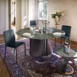 Italiski baldai Natisa apvalus valgomojo stalas Clover (3)