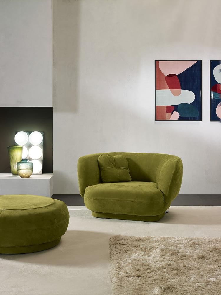 Prianera italiski minksti baldai fotelis Bold (5)