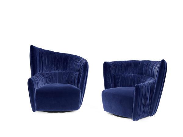 Prianera italiski minksti baldai fotelis ODEON plissé (4)
