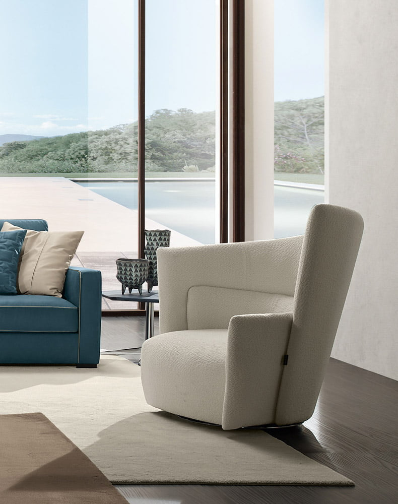 Prianera italiski minksti baldai fotelis odeon plain (1)