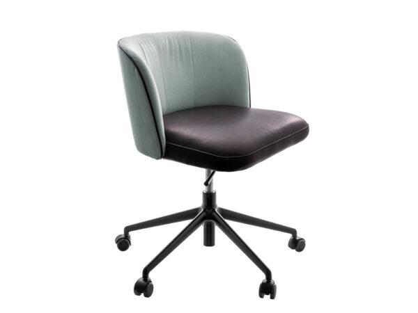 Vokiški baldai darbo kambario kėdė GAIA-LINE-5-spoke (1)