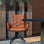 Vokiški baldai kėdė ARVA-STITCH-Swivel (2)