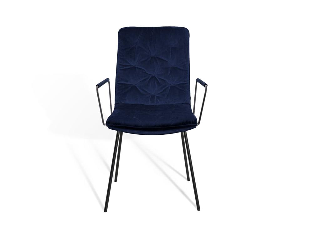 Vokiški baldai kėdė ARVA-STITCH su porankiais melyna (2)