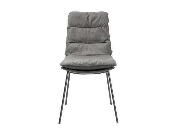 Vokiški baldai kėdė arva be porankiu pilka