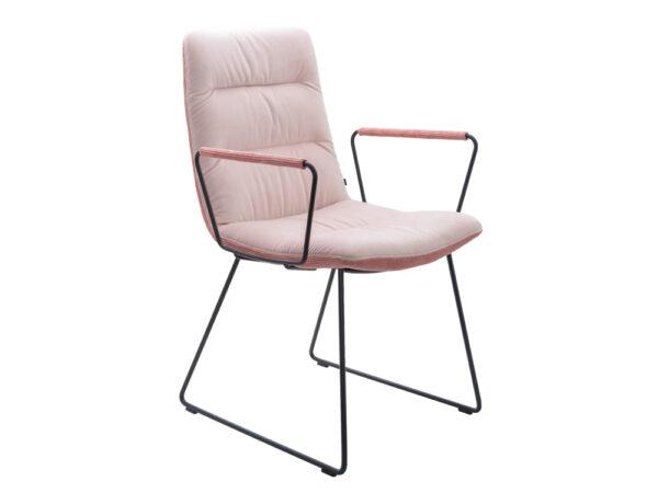 Vokiški baldai kėdė arva light rozine (6)