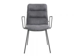 Vokiški baldai kėdė arva-light su porankiais pilka (1)