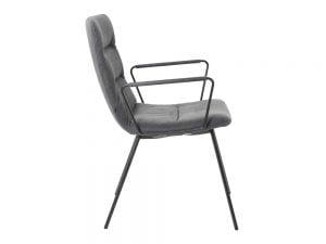 Vokiški baldai kėdė arva-light su porankiais pilka (2)