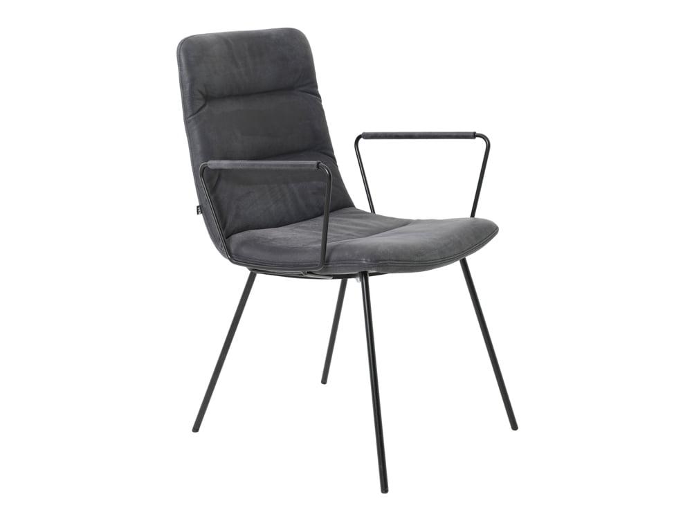Vokiški baldai kėdė arva-light su porankiais pilka (3)