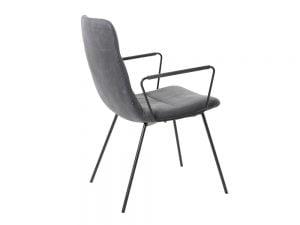 Vokiški baldai kėdė arva-light su porankiais pilka (5)